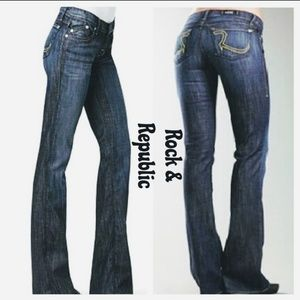 LIKE NEW ~ ROCK & REPUBLIC KASSANDRA CUT JEANS
